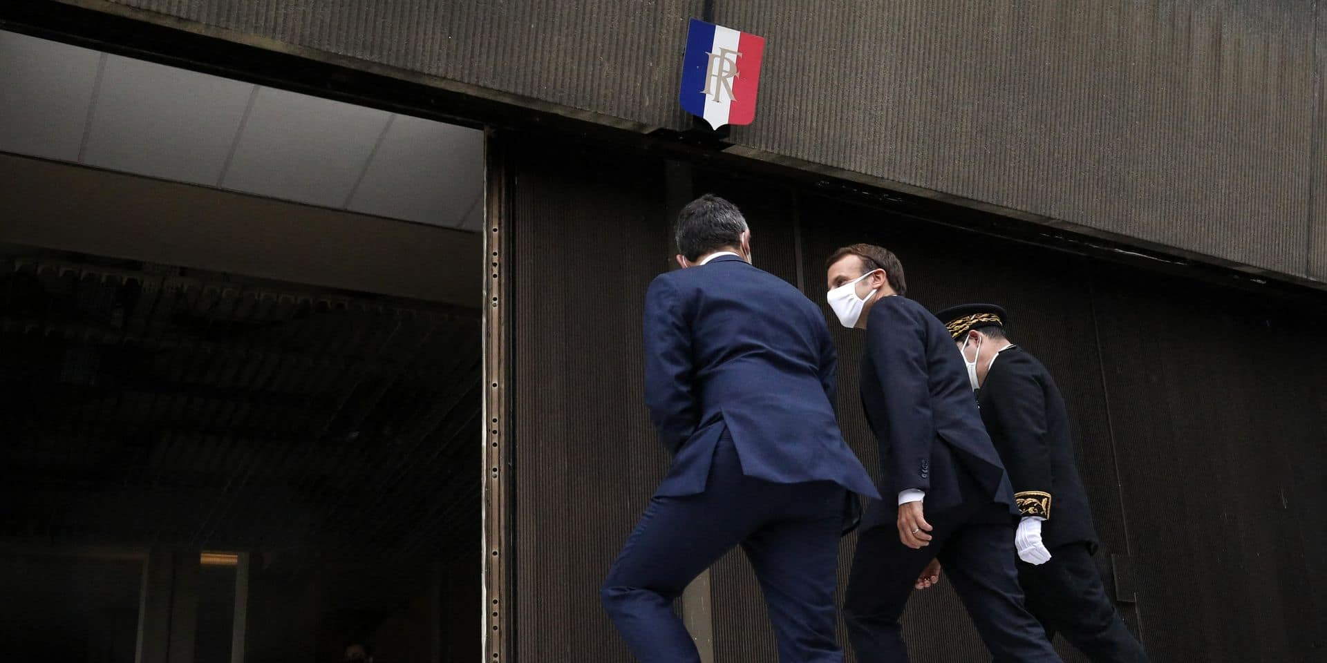 President Macron Visits Prefecture Headquarters - Bobigny