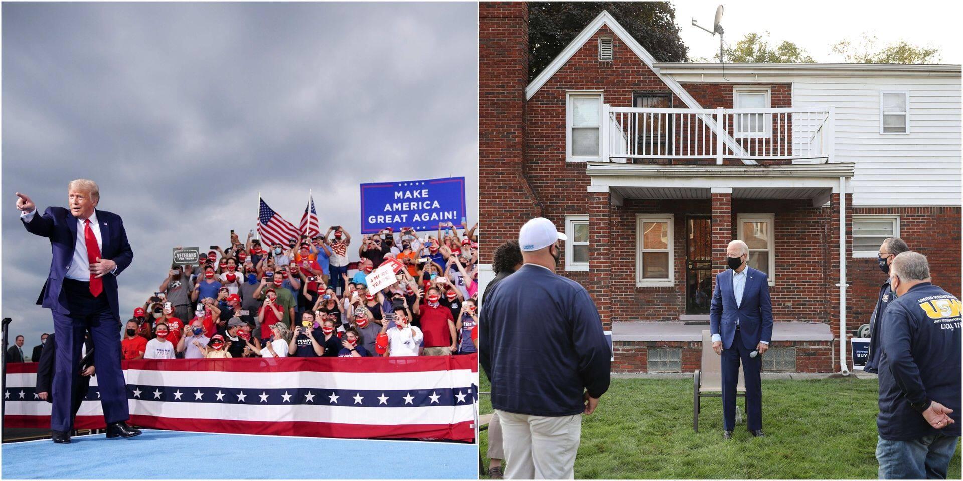 """""""Joe Biden pourrait à peine organiser un acte de campagne dans un placard à balais"""" : les sorties bien différentes des candidats à la Maison-Blanche"""