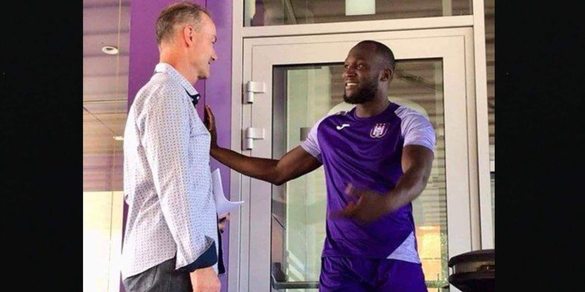Romelu Lukaku s'est entraîné à ... Anderlecht !