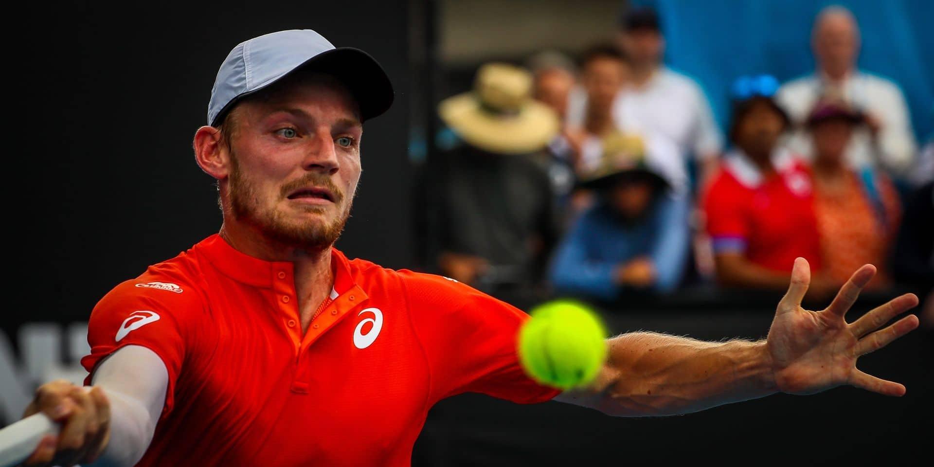 Open d'Australie: David Goffin éliminé au troisième tour par le Russe Medvedev, 19e mondial