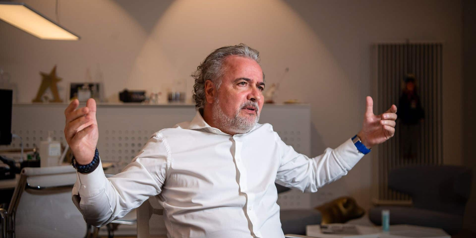 François Fornieri, dans son bureau, au siège de Mithra, à Liège.