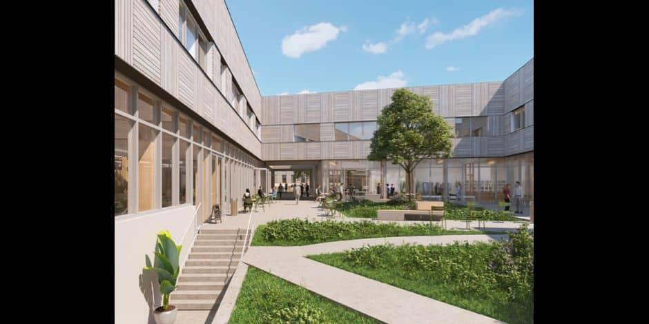 """Le campus baptisé de TOTAL baptisé """"L'Industreet""""."""