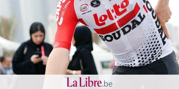 Belgian Bjorg Lambrecht of Lotto Soudal pictured ahead of the fifth stage of the 'UAE Tour' 2019 cycling race, 181 km from Flag Island to Khor Fakkan, United Arab Emirates, Thursday 28 February 2019. This year's edition is taking place from 24 February to 2 March. BELGA PHOTO YUZURU SUNADA FRANCE OUT
