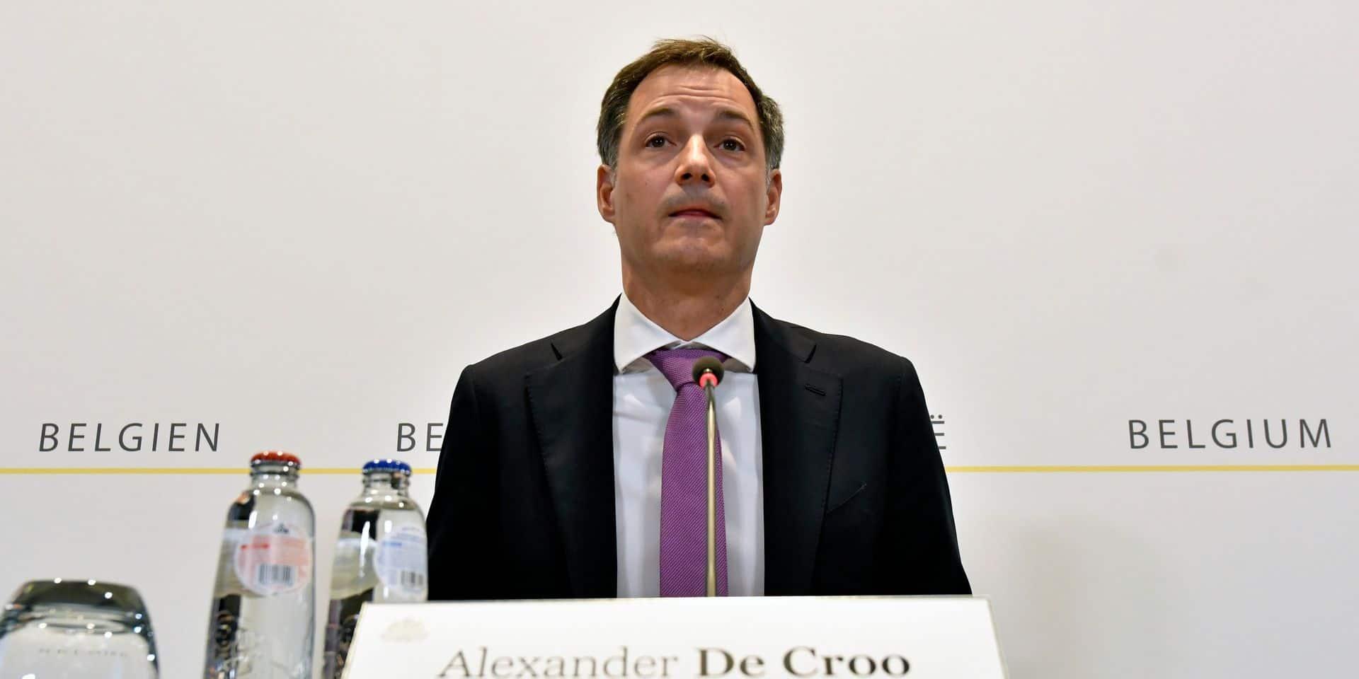 Le Premier ministre Alexander De Croo.