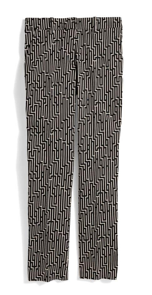 Pantalon cigarette à motif 19.99€