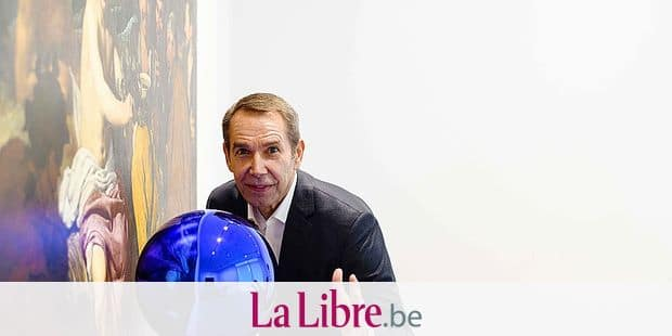 In this photo taken on March 27, 2018, US artist Jeff Koons poses in front of his piece 'Gazing Ball (Velazquez Triumph of Bacchus)', 2015-2017, during an interview with AFP in Hong Kong. Koons' brash voluptuous works of pop art come with stellar price tags but the appetite for big-name contemporary pieces is growing in Asia. / AFP PHOTO / Anthony WALLACE / RESTRICTED TO EDITORIAL USE - MANDATORY MENTION OF THE ARTIST UPON PUBLICATION - TO ILLUSTRATE THE EVENT AS SPECIFIED IN THE CAPTION