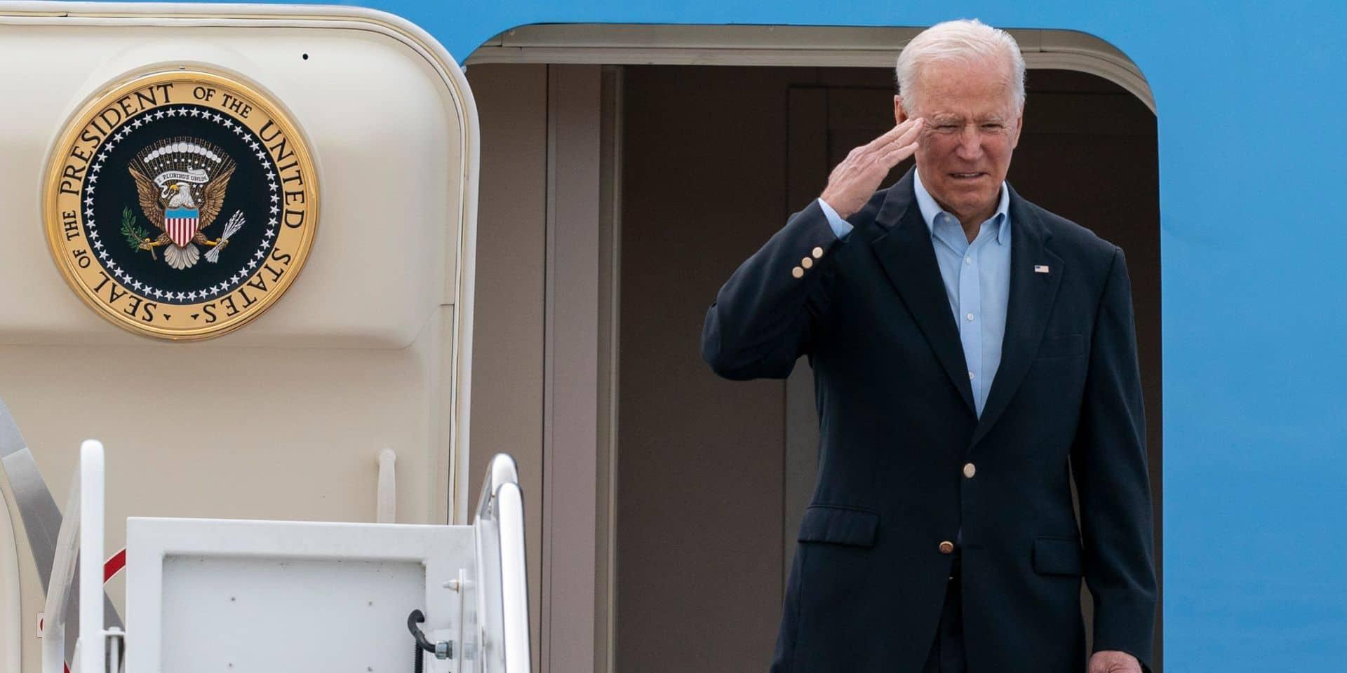 Biden s'envole pour le Royaume-Uni, première étape de sa tournée européenne