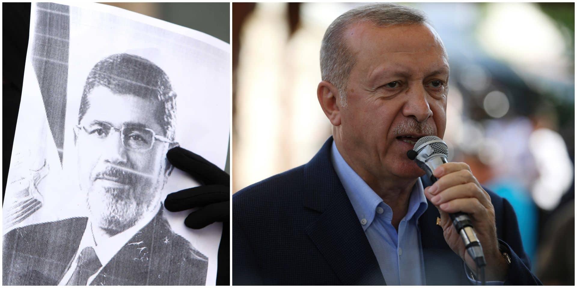 """Erdogan affirme que l'ex-président égyptien Mohamed Morsi """"a été tué"""""""