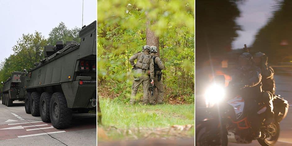 Les photos impressionnantes de la chasse à l'homme pour retrouver le militaire qui menace Marc Van Ranst