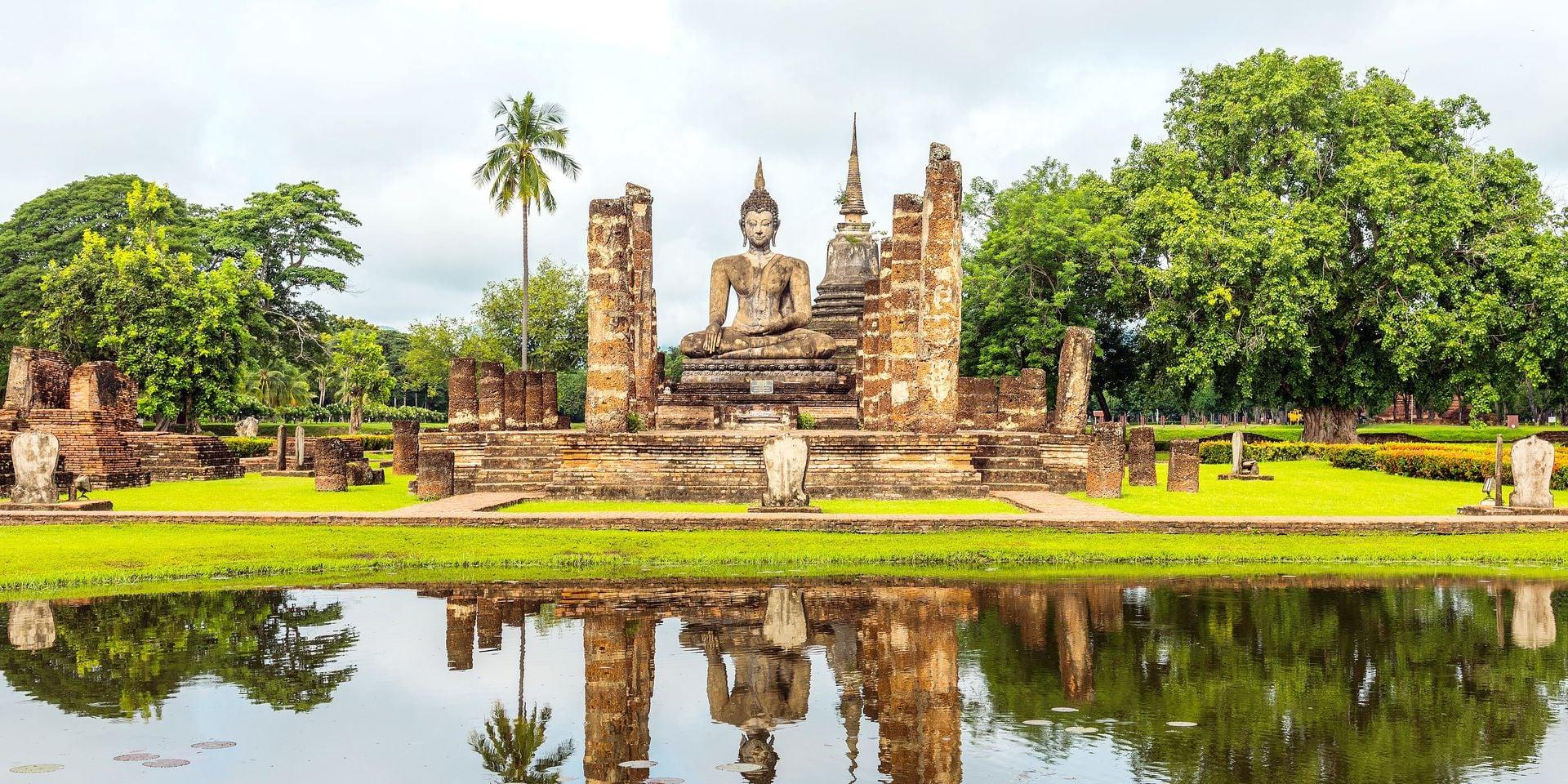 Phra Srisakayamunee, Buddha image at Mahathat Temple in Sukhothai Historical Park, Sukhothai