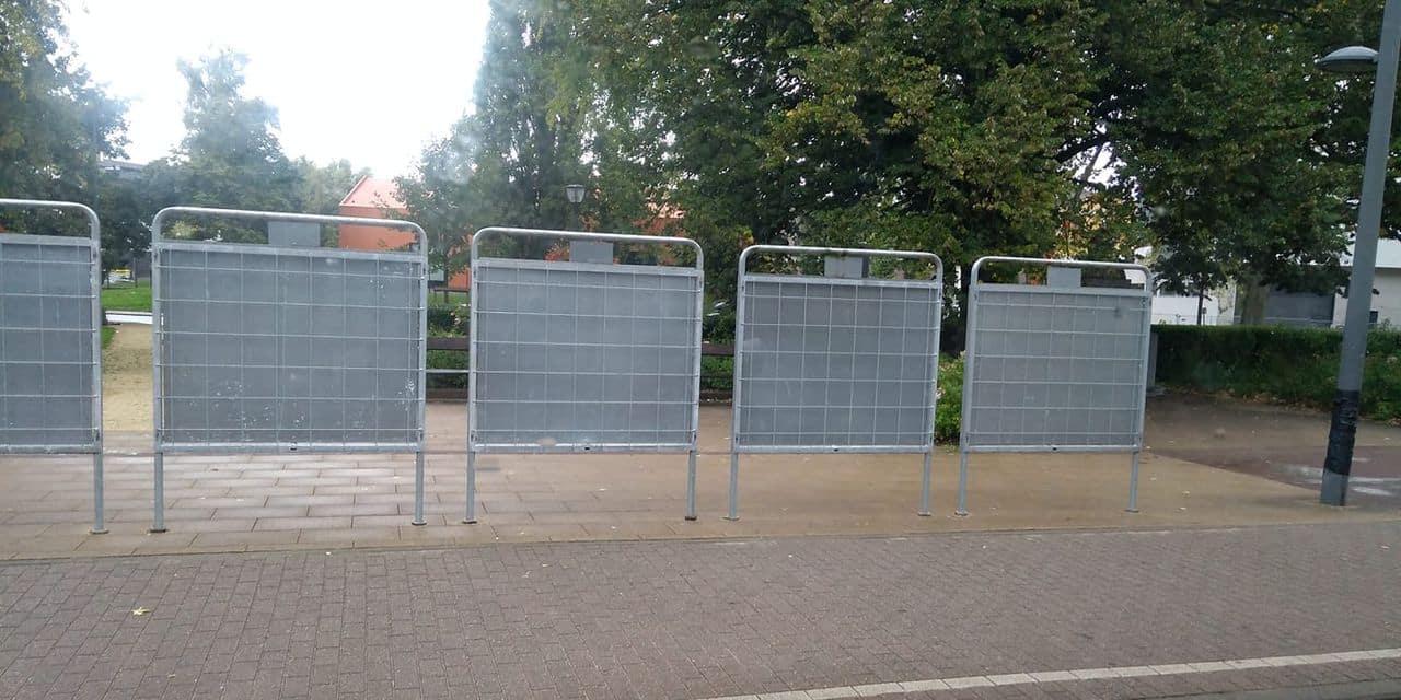 Anderlecht : Des panneaux électoraux... sans affiches