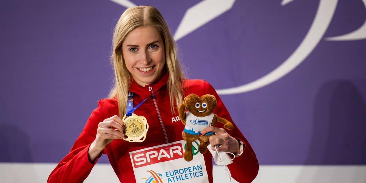 Elise Vanderelst, championne d'Europe du 1.500 m :