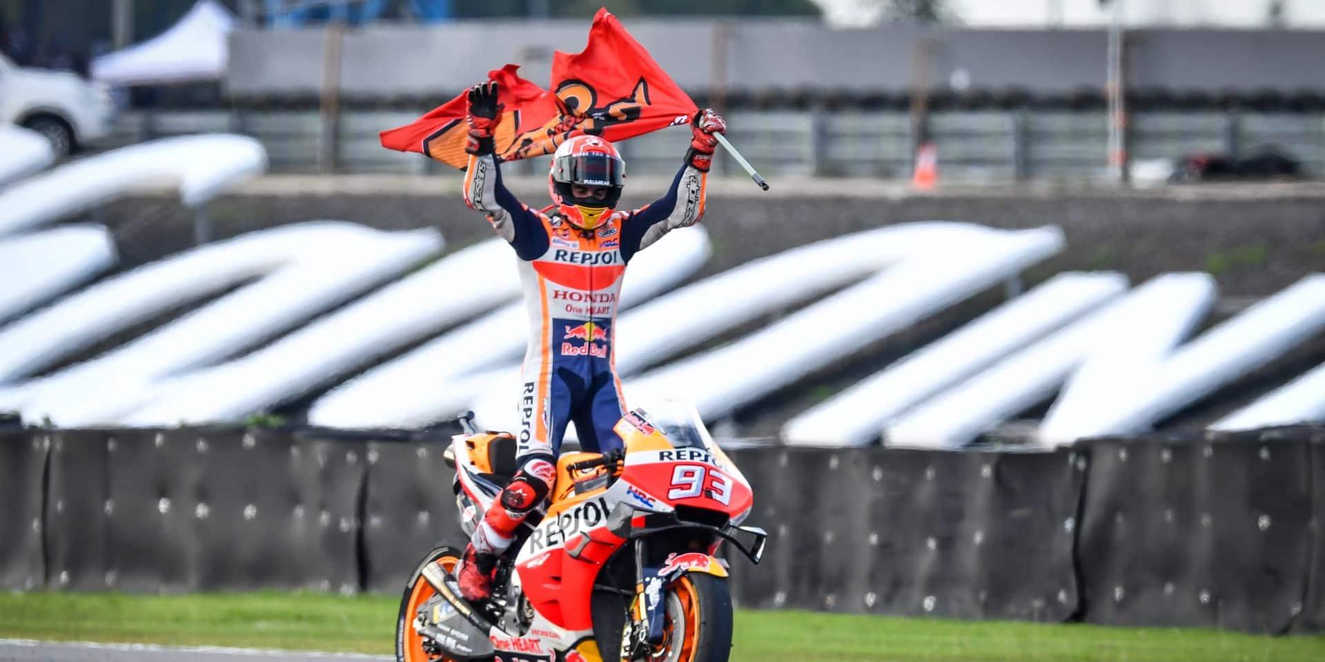 Victoire en Thaïlande de Marc Marquez (Honda) qui empoche un sixième titre mondial