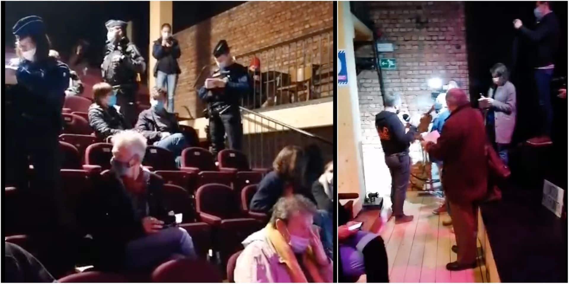 Accès bloqués par la police, représentation annulée et spectateurs verbalisés: l'action du Monty tourne court à Genappe (VIDEO)