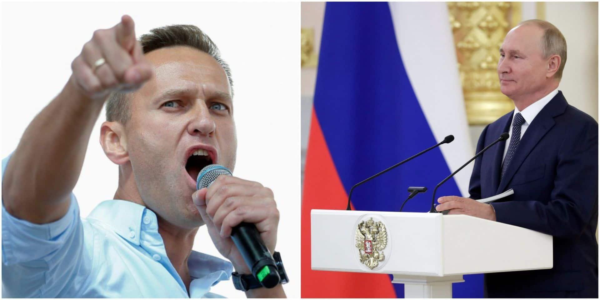 """L'opposant Alexeï Navalny accuse Poutine d'être """"derrière"""" son empoisonnement"""