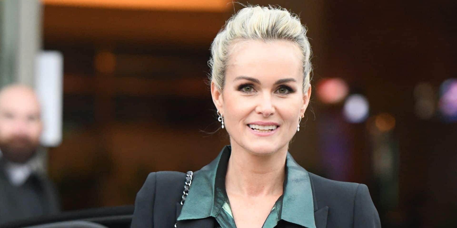 Laeticia Hallyday is seen leaving TF1 building after giving an interview to promote Johnny Hallyday's posthumous album release on October 19, 2018 in Paris, France. Photo by ABACAPRESS.COM Reporters / Abaca