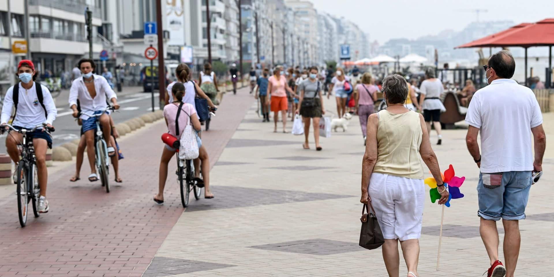 L'affluence à Knokke-Heist reste modérée malgré le retour des touristes d'un jour