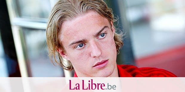 Belgium's Sebastiaan Bornauw pictured during a press conference of the U21 youth team of the Belgian national soccer team Red Devils, Saturday 01 June 2019, in Tubize. BELGA PHOTO BRUNO FAHY