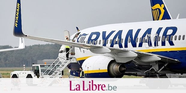 FILE - In this Sept. 12, 2018 file photo, a Ryanair plane parks at the airport in Weeze, Germany. Ryanair says it's looking at flight cuts, slower growth and job losses if deliveries of Boeing 737 Max jets keep being delayed. CEO Michael O'Leary says on an earnings conference call Monday, July 29, 2019, that the airline was supposed to get 58 Maxes by next summer. (AP Photo/Martin Meissner, File)