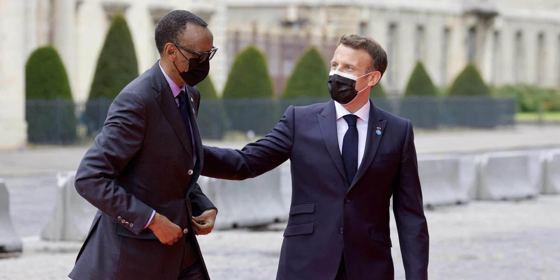 """Paul Kagame à Paris : France et Rwanda peuvent désormais """"avoir une bonne relation"""""""