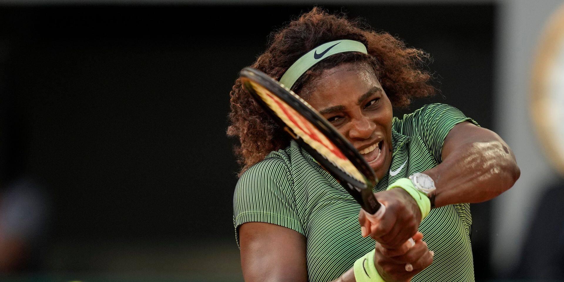 Roland-Garros: Serena Williams se qualifie dans la difficulté pour le troisième tour, Medvedev passe mais laisse filer un set