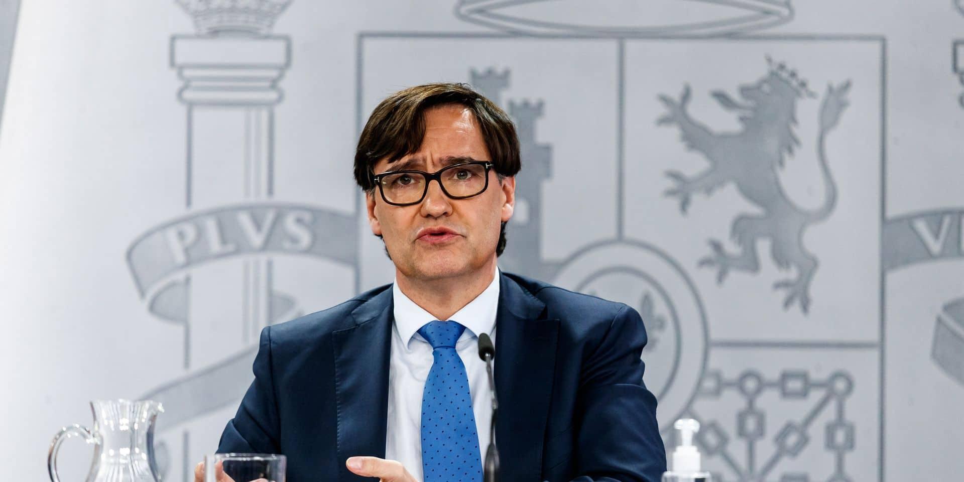 Madrid, Spain; 04/01/2021.- The Spanish Minister of Health, Salvador Illa...
