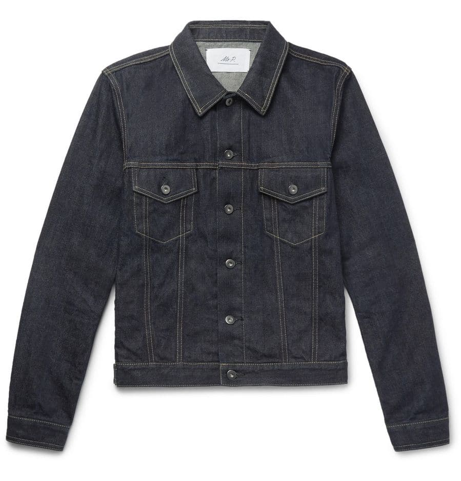 Une veste en denim:              Mr P.,              260 euros