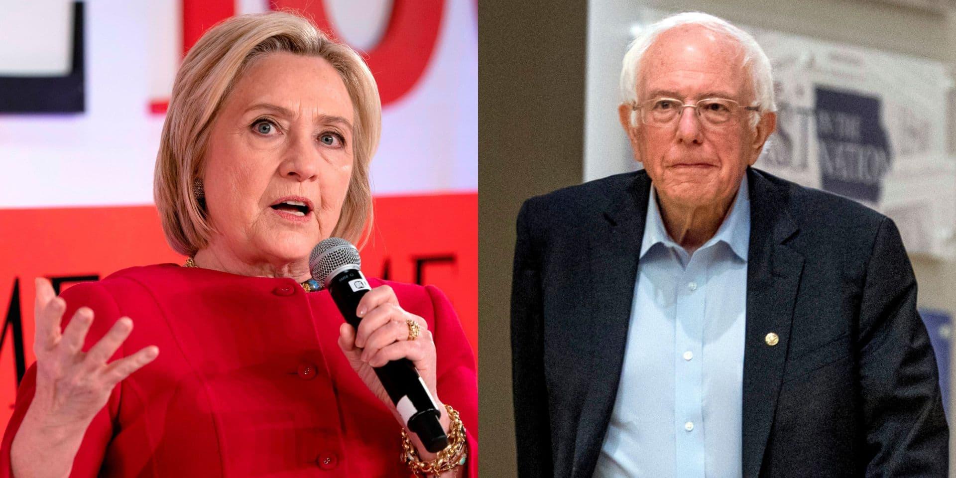 """Personne ne l'aime"": Hillary Clinton s'attaque à son ancien rival Bernie Sanders"
