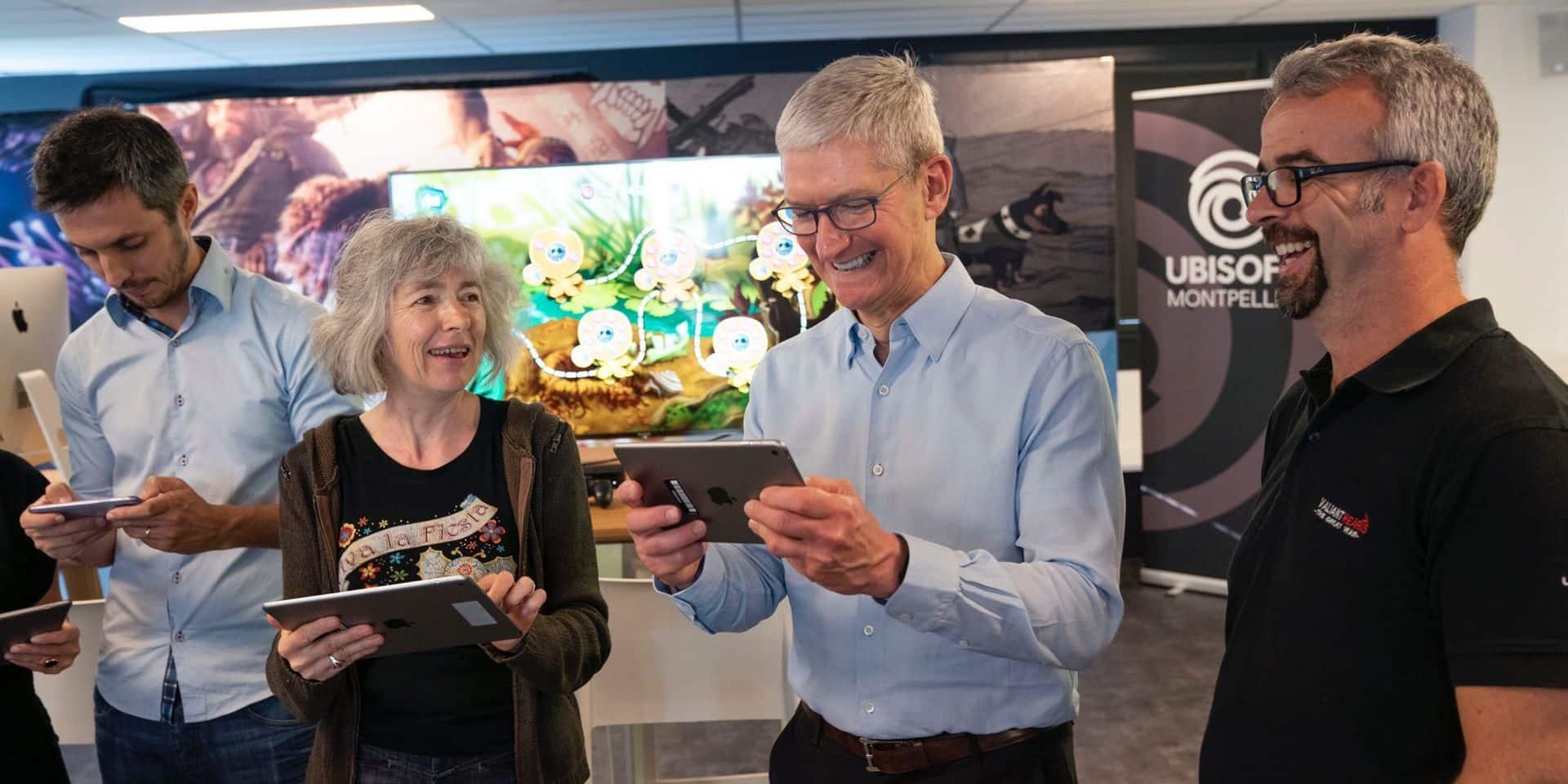 Visite surprise du patron d'Apple pour féliciter les développeurs d'Ubisoft Montpellier