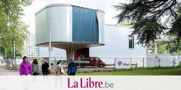 LIEGE. LE CHANTIER DU MAD MUSEE AVANCE. Photo Michel Tonneau