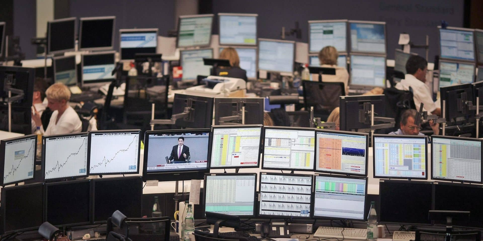 Bourse Francfort Allemagne traders marché actions