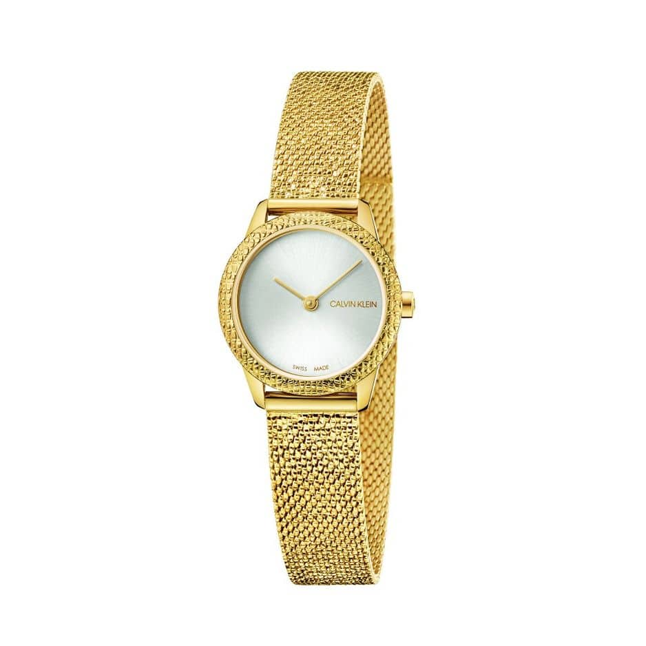En plaqué or, Calvin Klein, 289€                       www.calvinklein.be