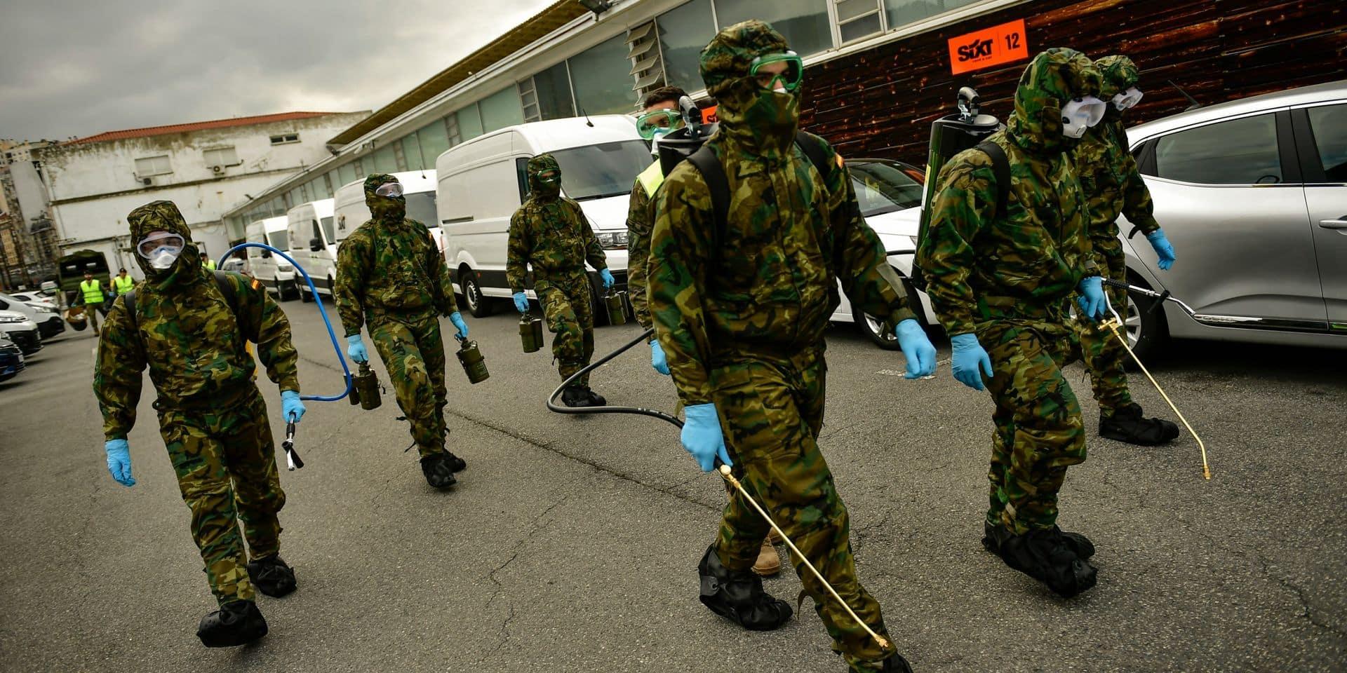 Coronavirus: jour noir pour l'Espagne, une patinoire changée en morgue