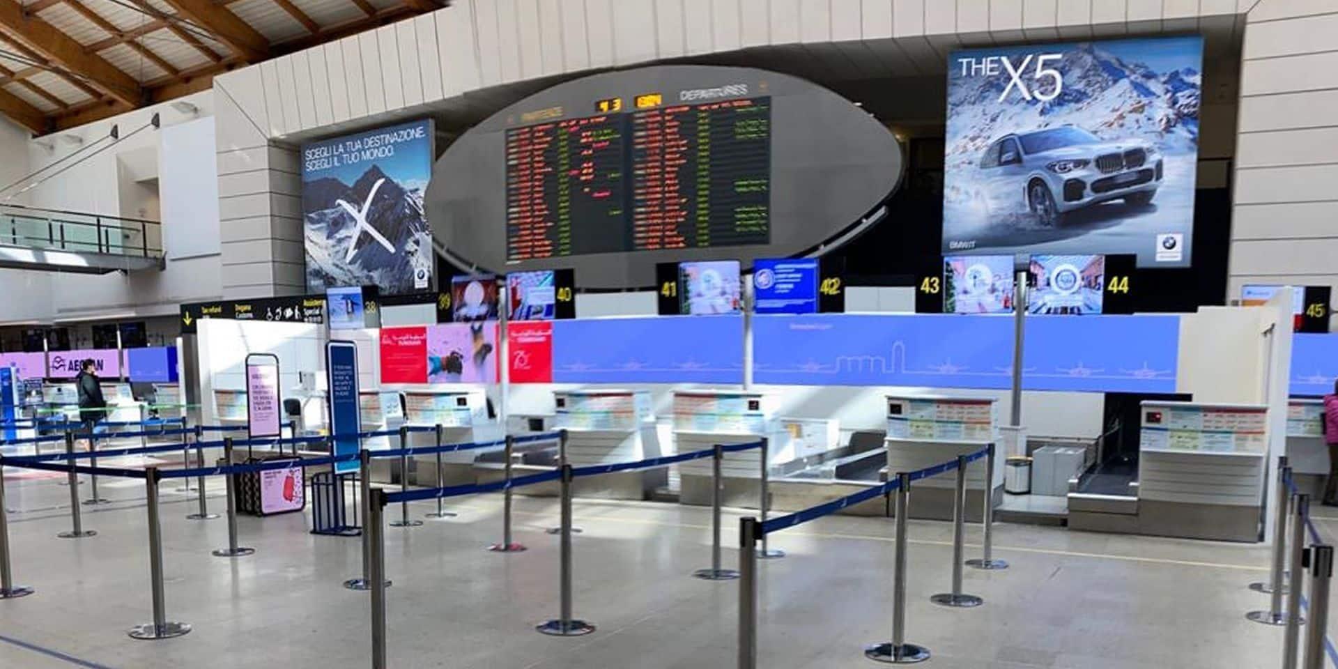 """Coronavirus: """"Avant le lockdown, les aéroports italiens étaient déjà confrontés à une baisse spectaculaire de passagers"""""""